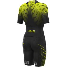 Alé Cycling R-EV1 Pro Race 2.0 SS Unitard Herren black-yellow flou